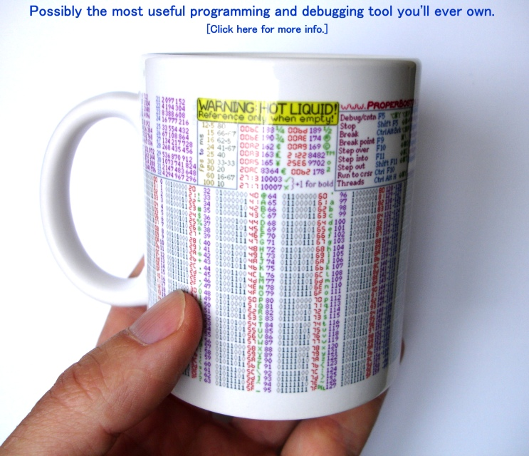 Click here for the DEBUG-U-MUG users' guide and where to buy one.